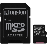Карта памяти Kingston 128GB MicroSDXC Class 10 UHS-I (SDC10G2/128GB)